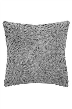 Grey Crochet Cushion £16
