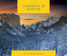 Experience the beauty of Yosemite National Park in winter. Check out the guide to plan your perfect weekend getaway. Yosemite Lodging, Yosemite Falls, Yosemite National Park, National Parks, Yosemite Winter, Winter Weekend Getaways, Vernal Falls, Winter Hiking, Weekend Breaks
