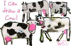 Kinder Cow Art project