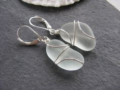 Your place to buy and sell all things handmade Beach Wedding Jewelry, Beach Jewelry, Sea Glass Jewelry, Glass Earrings, Pearl Earrings, Blue Beach, Aqua Blue, Bridesmaid Gifts, Best Gifts