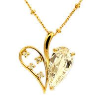 Heart Cut CZ Diamond Pendant Necklace  Product no.: LINLIPB1350     Stone Type CZ     Stone Cut Heart     Plating Gold Plated     Weight 5 gram     Center Stone Weight N/A     Center Stone Dimension 8 x 16 X 1     Item Size 2 X 2 X 4    Product is in stock  $4.99