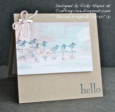 Stampin' Up ideas and supplies from Vicky at Crafting Clare's Paper Moments: Hello lovely Wetlands birds!