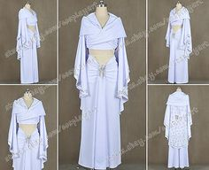 Star-Wars-Cosplay-Padme-Amidala-Costume-White-Suit-Cloak-Sexy-Luxury-Dress-Cool