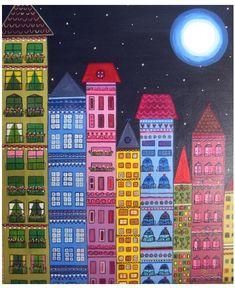 luna lunera Village Drawing, Art Village, Henri Rousseau, Karla Gerard, Art Friend, Funky Art, Drawing Projects, Collaborative Art, Famous Art
