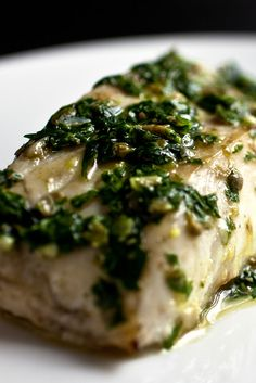 NYT Cooking: I've given you the recipe for this parsley salsa before, when it was served as a condiment for roasted or grilled summer squash. This time I serve it with grilled Alaskan cod. It's a perfect complement to this mild-tasting fish.