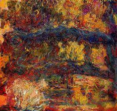 Claude Monet. The Japanese Bridge 5 (1924).