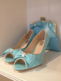 50s shoes from Rachel Simpson/ Every woman should have a matching shoes and purse ensemble.