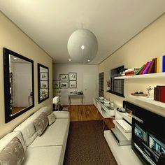 Sala e cozinha integradas - limaonagua