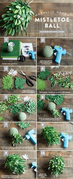 DIY Mistletoe Ball Tutorial