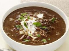 BLACK BEAN SOUP RECIPE: Take a look at this recipe for making a delicious black bean soup.