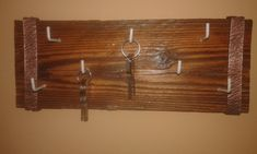 Reclaimd wood and copper key holder