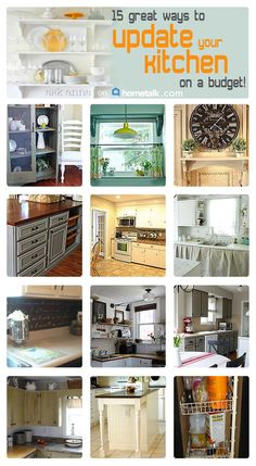 Updating your kitchen doesn't have to cost a fortune! Here are some great ideas!