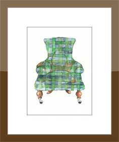 Go Green Chair 5 X7 Print