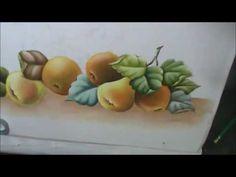 Pêras, laranjas e folhas - Aula 9 - Pintura em tecido - YouTube