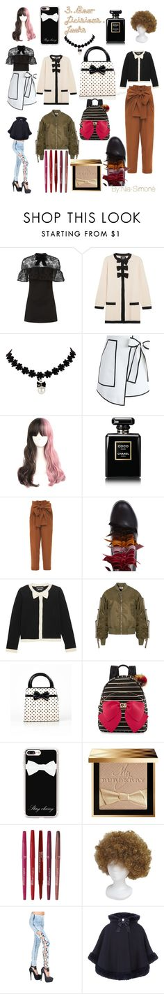 """3 Bowlicious 4 Ya Baby"" by nianiasimonefoster ❤ liked on Polyvore featuring self-portrait, Boutique Moschino, Chicwish, Chanel, Jonathan Saunders, Marco de Vincenzo, Betsey Johnson, Casetify, Burberry and Smashbox"