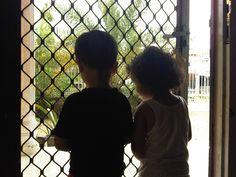 Teuku Keanu and Cut Qanita Nafila shadow behind the door