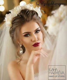 WEBSTA @ aydan_kharayeva - Make up by mee.hair style by Gelin sac makiyajin karona kirayesin etdik telesin gozel gelinlerimiz - Huda Beauty Makeup, Hair Beauty, Wedding Makeup Looks, Wedding Looks, Bridal Looks, Bridal Beauty, Wedding Beauty, Bridal Hair, Braut Make-up