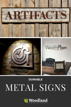 Customer Creations: Metal Signs Built To Last Metal Letters, Metal Signs, Rustic Signs, Sculpture Art, Woodland, Building, Articles, Home Decor, Decoration Home