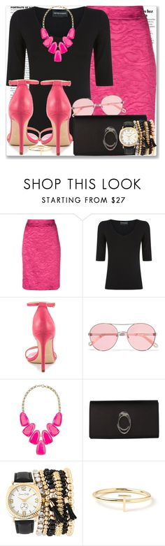 """Fuchsia 12.29"" by rosalol ❤ liked on Polyvore featuring Armani Collezioni, ALDO, Chloé, Kendra Scott, Jessica Carlyle and Maya Brenner Designs"