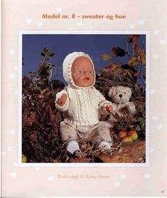 Album Archive - Dukketøj til Baby Born 2 - Ingelise Knitting Dolls Clothes, Doll Clothes, Baby Born, Ag Dolls, American Girl, Knitting Patterns, Teddy Bear, Album, Animals