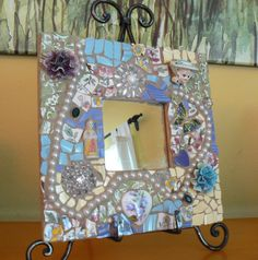 Custom Pique Assiette Mirror by PamelasPieces on Etsy, $65.00