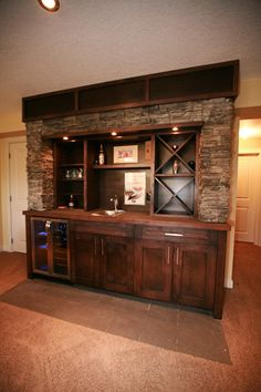 Turning Your Basement into the Ultimate Man Cave Can Be Fun - Man Cave Home Bar Wet Bar Basement, Basement Bar Plans, Flooded Basement, Basement Bar Designs, Home Bar Designs, Basement Remodeling, Basement Ideas, Playroom Ideas, Remodeling Ideas