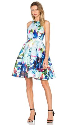 Shop for Parker Black Christine Dress in Peony Corsage at REVOLVE. Plus Size Bridesmaid, Bridesmaid Dresses, Floral Bridesmaids, Parker Black, Revolve Clothing, Ladies Dress Design, Corsage, Fit And Flare, Designer Dresses