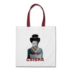 Our Geisha tote bags are great for carrying around your school & office work, or other shopping purchases. Designer Bags, Geisha, Reusable Tote Bags, Canvas, Designer Handbags, Tela, Canvases, Geishas, Burlap