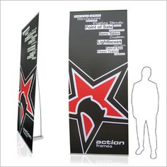 Monster Tall Banner If you're looking to make a statement, do it with this high impact tall fabric banner. Lightweight and easy to transport in its own carrier bag. Size: (h) x (w)
