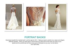 Portrait Back Wedding Trends 2013
