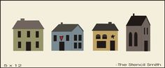 SMALL - 4 Saltbox Houses 2 layer