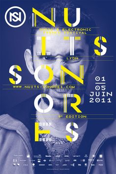 Film Festival Poster graphic design inspiration nuits sonores / fernando suarez {A great philosophy for web designers, graphic designers and. Cover Design, Graphisches Design, Layout Design, Print Design, Interior Design, Graphic Design Posters, Graphic Design Typography, Graphic Design Inspiration, Text Poster