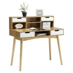 Convenience Concepts Oslo Writing Desk with Hutc... : Target