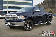 """Ram 1500 crew cab with 2"""" level kit, XD Wheels and 33"""" Toyo tires"""