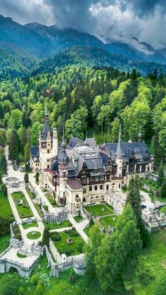 Sinaia - Carpathian Mountains - Romania - Peles Castle - paintings and decoration , Beautiful Castles, Beautiful Buildings, Beautiful Places, Places To Travel, Travel Destinations, Fantasy Castle, Castle House, Palaces, Medieval Castle