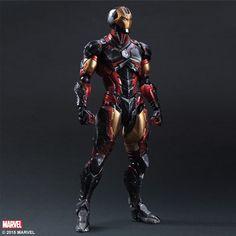"Sen-ti-nel ENX32248 Iron Man Variant ""Marvel Comics"" Play Arts Action Figure"