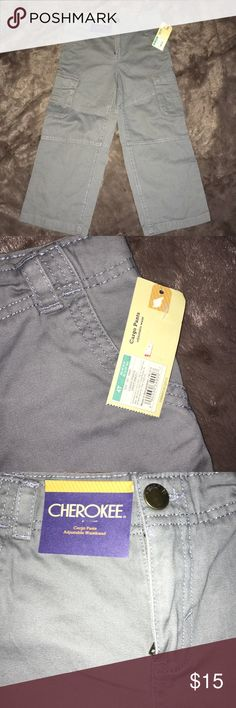 Cherokee 4T gray NWT cargo pants Cherokee gray pants new with tags, size 4T Cherokee Bottoms Casual