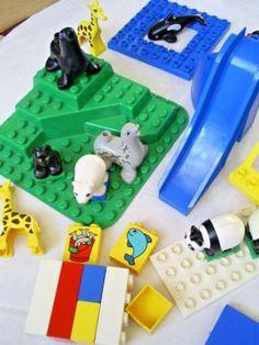 SELECTION VINTAGE DUPLO ZOO & ANIMAL FIGURES