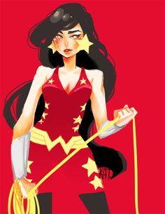 Wonder Girl Dona Troy: Color. Pose. Line. Shape.