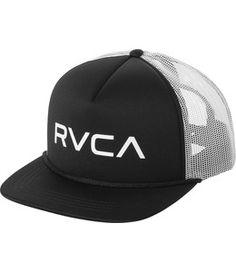 bbfb328b781 RVCA Foamy Trucker Hat BLACK WHITE Hats For Men