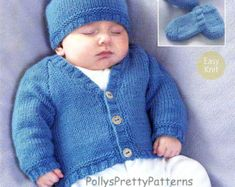 This PDF Knitting pattern is for this Aran Jacket or Coat, Sweater Beret and Hat Set.  Knitted in Aran weight wool. To fit chest sizes 16 to 24 (actual size when knitted will be 18 - 24 Knitted on a pair each of 5 mm & 4 mm knitting needles.  Your PDF pattern will be available as an instant download when you pay.  All of our patterns are water marked but are still very easy to read.