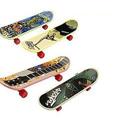 LUCKSTARTM 4PCs Mini Cute Deck Skids Finger Skateboard Skate Boarding Set Toy Gift for Kids Children >>> Click on the image for additional details.