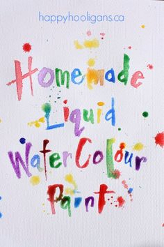 Woohoo! Turn your old, dried out markers into vibrant homemade water-colour paints! SO much less expensive than store bought liquid watercolours. - Happy Hooligans