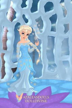 Elsa the Snow Queen ~ by peachmoonbunny ~ created using the Pixie doll maker | DollDivine.com