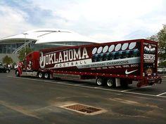 University of Oklahoma Sooners - equipment transporter for away football games