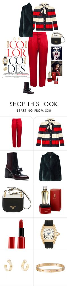 """""""Black, Red & White"""" by mbarbosa ❤ liked on Polyvore featuring Trager Delaney, Gucci, Marni, Jacques Vert, Prada, Cartier and Giorgio Armani"""