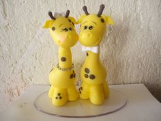 Topo de bolo Girafinhas!