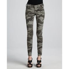 True Religion Casey Stretch Camo Low-Rise Super Skinny Pants ($190) ❤ liked on Polyvore featuring pants, desert sand, low rise pants, camouflage skinny pants, true religion, camo pants and camoflage pants