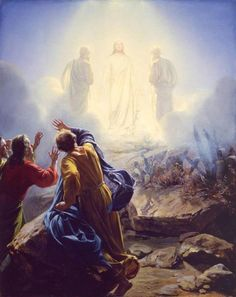 "The Transfiguration  7And a cloud overshadowed them, and a voice came out of the cloud, ""This is my beloved Son; listen to him."" Mark 9:7"