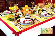 Lemon zest tablecloth. I wonder if I could get this done before Christmas...